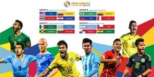 4 bảng đấu Copa America 2016 sẽ được phát sóng trực tiếp trên VTVcab