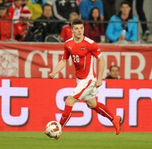 Át chủ bài Marcel Sabitzer trong đội tuyển Áo tham dự Euro 2016