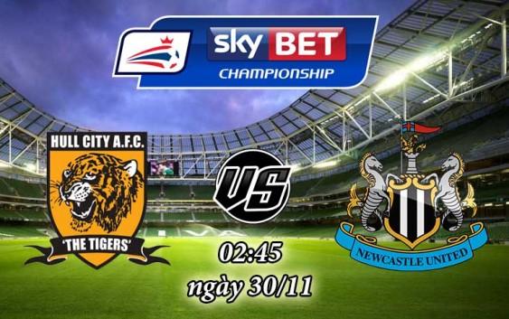 Soi kèo bóng đá Hull City vs Newcastle 02:45, ngày 30/11 Cúp Liên Đoàn Anh