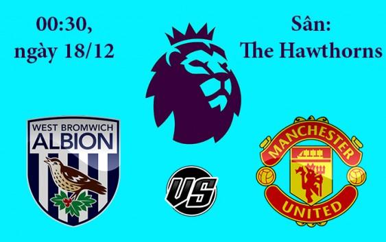 Soi kèo bóng đá West Brom vs Manchester United 00h30, ngày 18/12 Premier League