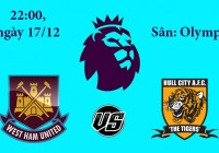Soi kèo bóng đá West Ham vs Hull City 22h00, ngày 17/12 Premier League