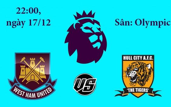 Soi kèo bóng đá West Hamvs Hull City22h00, ngày 17/12 Premier League