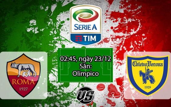 Nhận định, soi kèo AS Roma vs Chievo 02h45, ngày 23/12 Serie A