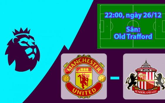 Nhận định, soi kèo Manchester United vs Sunderland 22h00 ngày 26/12 Ngoại Hạng Anh