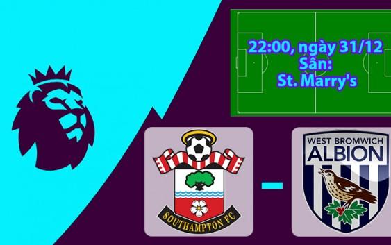 Soi kèo bóng đá Southampton vs West Brom 22h00, ngày 31/12 Ngoại Hạng Anh