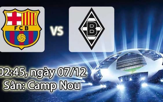 Soi kèo bóng đá Barcelona vs Monchengladbach 02h45, ngày 07/12 Champions League