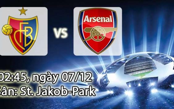 Soi kèo bóng đá Basel vs Arsenal 02h45, ngày 07/12 Champions League
