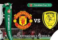 Soi kèo bóng đá Manchester United vs Burton 02h00, ngày 21/9 Cúp Liên Đoàn Anh