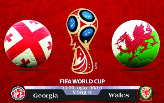 Soi kèo bóng đá Georgia vs Wales 23h00, ngày 06/10 Vòng Loại World Cup 2018