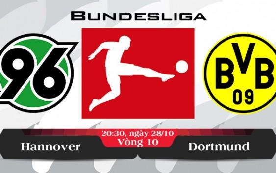Soi kèo bóng đá Hannover vs Dortmund 20h30, ngày 28/10 Bundesliga