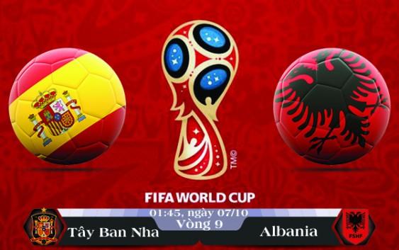 Soi kèo bóng đá Tây Ban Nha vs Albania 01h45, ngày 07/10 Vòng Loại World Cup 2018