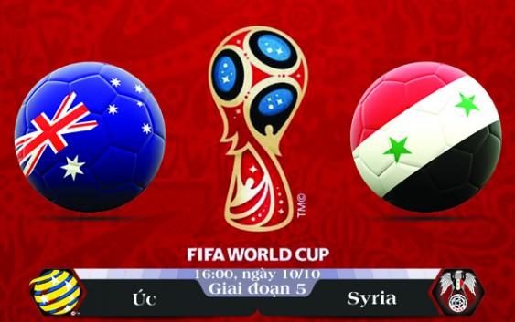 Soi kèo bóng đá Úc vs Syria 16h00, ngày 10/10 Vòng Loại World Cup 2018