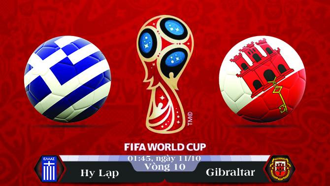 Soi kèo bóng đá Hy Lạp vs Gibraltar 01h45, ngày 11/10 Vòng Loại World Cup 2018