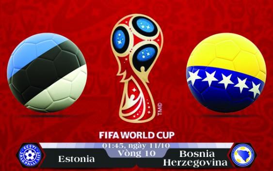 Soi kèo bóng đá Estonia vs Bosnia – Herzegovina 01h45, ngày 11/10 Vòng Loại World Cup 2018