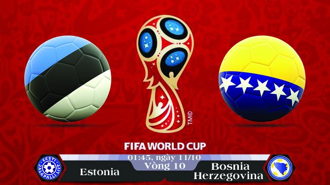 Soi kèo bóng đá Estonia vs Bosnia - Herzegovina 01h45, ngày 11/10 Vòng Loại World Cup 2018