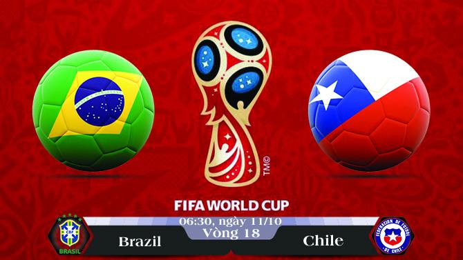 Soi kèo bóng đá Brazil vs Chile 06h30, ngày 11/10 Vòng Loại World Cup 2018