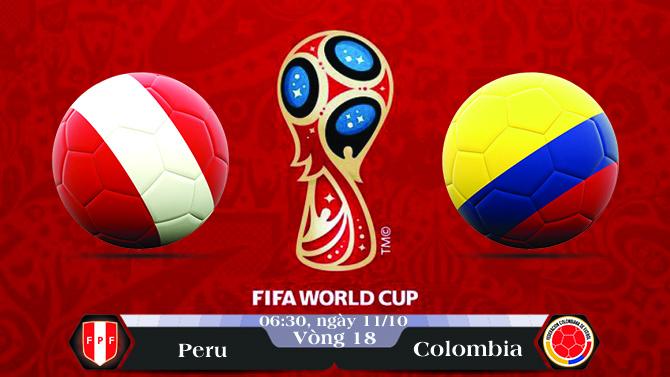 Soi kèo bóng đá Peru vs Colombia 06h30, ngày 11/10 Vòng Loại World Cup 2018