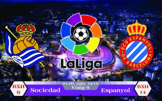 Soi kèo bóng đá Real Sociedad vs Espanyol 01h00, ngày 24/10 La Liga