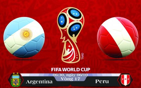 Soi kèo bóng đá Argentina vs Peru 06h30, ngày 06/10 Vòng Loại World Cup 2018