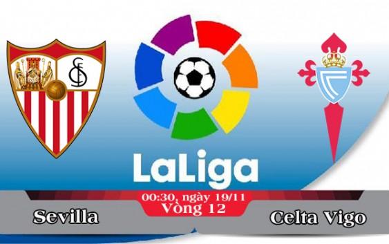 Soi kèo bóng đá Sevilla vs Celta Vigo 00h30, ngày 19/11 La Liga