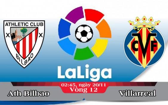 Soi kèo bóng đá Ath Bilbao vs Villarreal 02h45, ngày 20/11 La Liga