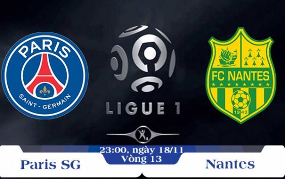 Soi kèo bóng đá PSG vs Nantes 23h00, ngày 18/11 Giải Vô Địch Quốc Gia Pháp