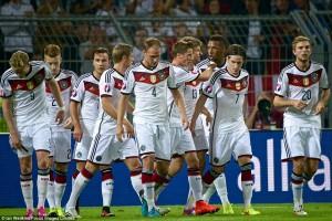Đội tuyển Đức vào VCK Euro 2016 với thành tích đầu bảng D