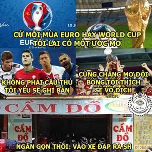 Ảnh chế nỗi lòng của dân cá độ bóng đá Euro 2016
