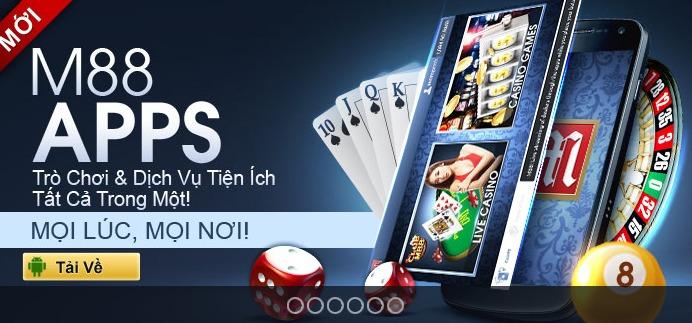 Ứng dụng di động M88 cho phép người chơi đặt cược mọi lúc
