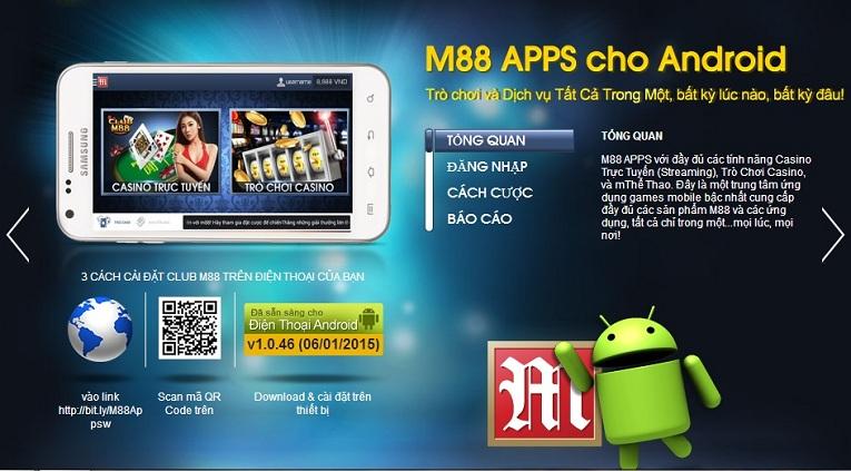 M88 Mobile cho phép người chơi đặt cược mọi lúc mọi nơi