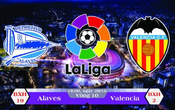 Soi kèo bóng đá Alaves vs Valencia 18h00, ngày 28/10 La Liga