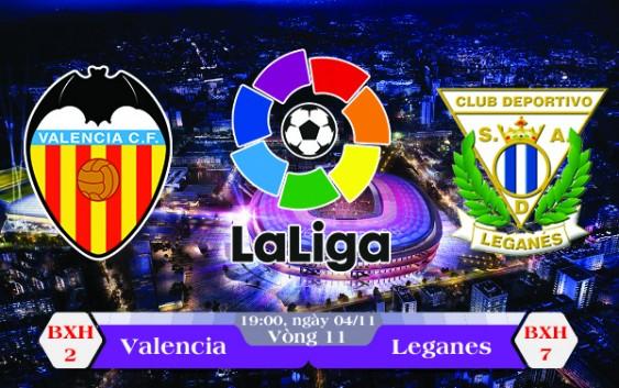 Soi kèo bóng đá Valencia vs Leganes 19h00, ngày 04/11 La Liga
